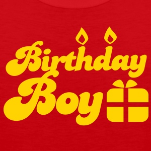 Birthday boy new with present T-Shirts - Men's Premium Tank