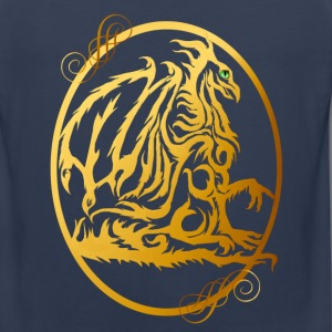 Gold Dragon Oval - Men's Premium Tank