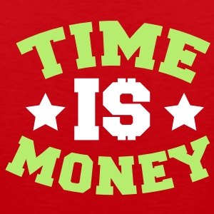 TIME IS MONEY dollars and stars T-Shirts - Men's Premium Tank