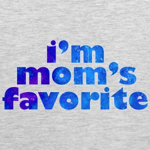 I'M MOM'S FAVORITE - blue T-Shirts - Men's Premium Tank