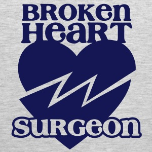 Broken heart surgeon funny design for anyone out of luck with Romance T-Shirts - Men's Premium Tank