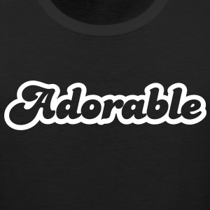 adorable! in cute font T-Shirts - Men's Premium Tank