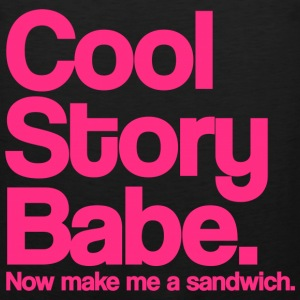 Cool Story Babe Now Make Me A Sandwich Pink Design Funny Tanktop Sleeveless Shirt - Men's Premium Tank