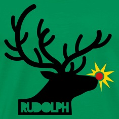 rudolph with light on is nose REINDEER T-Shirts
