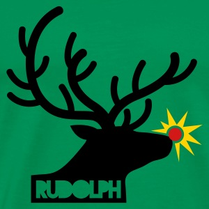 rudolph with light on is nose REINDEER T-Shirts - Men's Premium T-Shirt