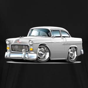 1955 Chevy Belair White Car - Men's Premium T-Shirt