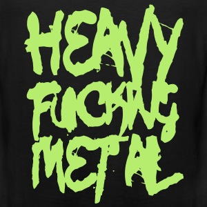 Heavy Fucking Metal VECTOR T-Shirts - Men's Premium Tank