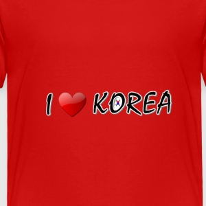 I LOVE KOREA txt s.korea flag art Toddler T-Shirt - Toddler Premium T-Shirt