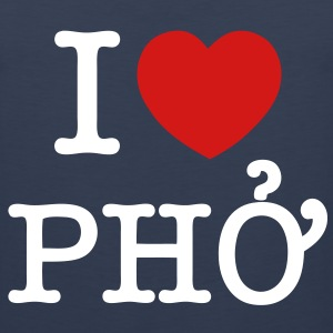 I Heart (Love) Pho - Men's Premium Tank