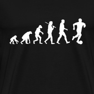 Soccer Evolution funny - Men's Premium T-Shirt