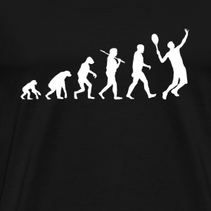 Tennis Evolution funny - Men's Premium T-Shirt