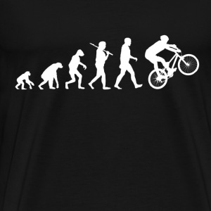 Cycling Evolution Funny Parody - Men's Premium T-Shirt