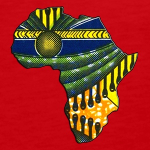 Africa Logo Kaftan Colorway T-Shirts - Men's Premium Tank