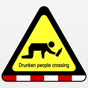 Drunken people crossing sign - Men's Premium Tank
