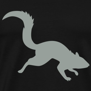 Rally Squirrel Metalic Grey 03 - Men's Premium T-Shirt