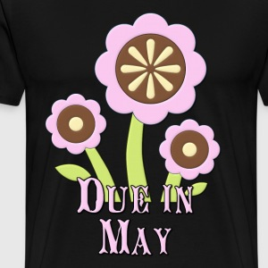 Due in May Expectant Mother T-Shirts - Men's Premium T-Shirt