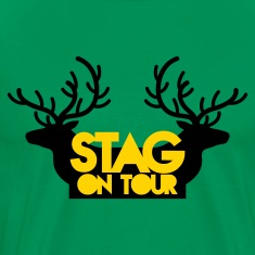 BACHELOR stag on tour with reindeer stags T-Shirts