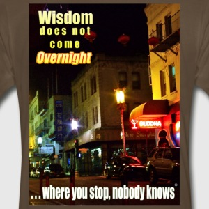 Overnite wisdom Men's 3XL t-shirt - Men's Premium T-Shirt