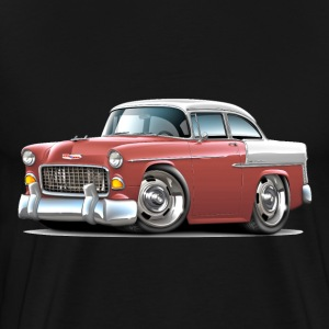 1955 Chevy Belair Salmon Car - Men's Premium T-Shirt