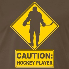 CAUTION: Hockey Player T-Shirts