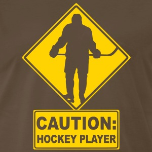 CAUTION: Hockey Player T-Shirts - Men's Premium T-Shirt