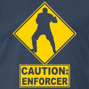 CAUTION: Hockey Enforcer T-Shirts - Men's Premium T-Shirt
