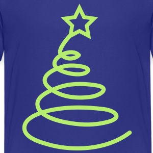 Simple ribbon Christmas tree FUNKY Kids' Shirts - Kids' Premium T-Shirt