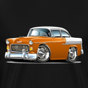 1955 Chevy Belair Orange Car - Men's Premium T-Shirt