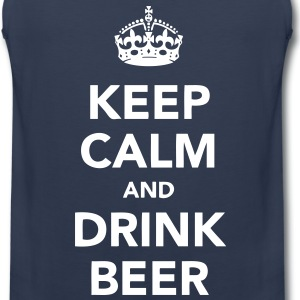 keep calm and drink beer T-Shirts - Men's Premium Tank