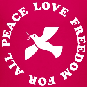 peace love freedom for all Kids' Shirts - Kids' Premium T-Shirt