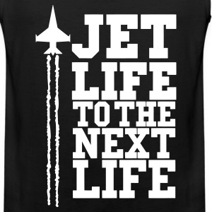 JET LIFE TO NEXT LIFE  eps T-Shirts - Men's Premium Tank