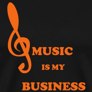 MUSIC IS MY BUSINESS reggae straight - Men's Premium T-Shirt