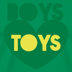 boys toys on a love heart T-Shirts