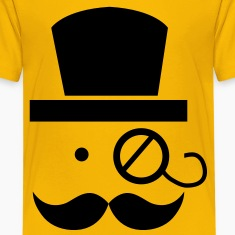 mustache moustache man with eyeglass Kids' Shirts