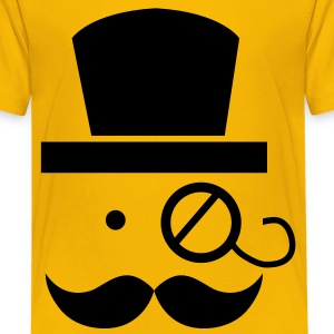 mustache moustache man with eyeglass Kids' Shirts - Kids' Premium T-Shirt