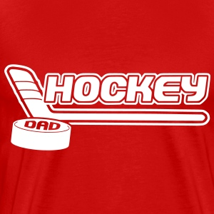 Hockey Dad (stick and puck design) T-Shirts - Men's Premium T-Shirt
