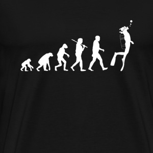 Scuba diving Evolution funny - Men's Premium T-Shirt