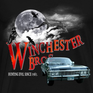 Winchester Bros Hunting Evil Since 1983 1967 chev T-Shirts - Men's Premium T-Shirt