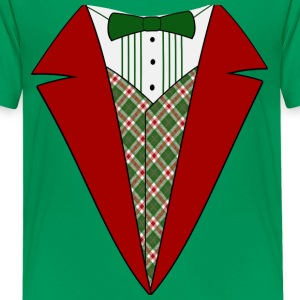 Funny Christmas Tuxedo, Red and Green Tux Kid's T-Shirt - Kids' Premium T-Shirt