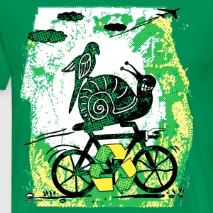 Earth Day Snail Big Dot - Men's Premium T-Shirt
