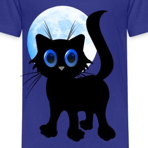 Black Halloween Kitten - Toddler Premium T-Shirt