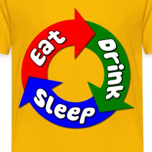 Eat, Drink, Sleep Fat Kids' Shirts - Kids' Premium T-Shirt