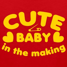 cute baby in the making with a safety pin for a young one  T-Shirts