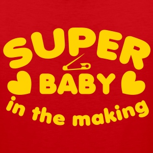 SUPER baby in the making!  T-Shirts - Men's Premium Tank