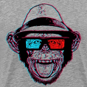 "HIPSTER CHIMP - AKA ""THE CHIMPSTER"" - Men's Premium T-Shirt"