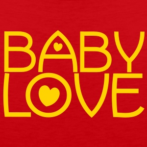 baby love cute font with love hearts lovely! T-Shirts - Men's Premium Tank