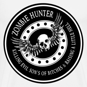 Zombie Hunter Ring Patch Revised T-Shirts - Men's Premium T-Shirt