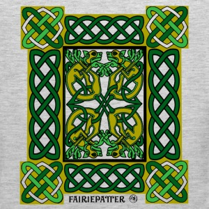 Fairie Patter - Celtic Hounds in Green T-Shirts - Men's Premium Tank