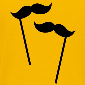 two moustaches on sticks  T-Shirts - Men's Premium T-Shirt