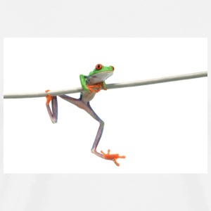 Frog On Wire - Men's Premium T-Shirt